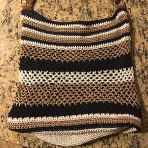 Straw Studios Beautiful crocheted lined bag
